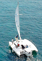 Catamaran in Cancun