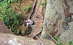 Rappelling at Coba Chimuch in Riviera Maya