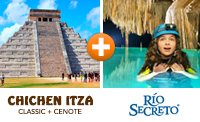 Chichen Itza & Rio Secreto Tour