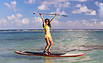 Paddle Boarding Mahahual Mexico
