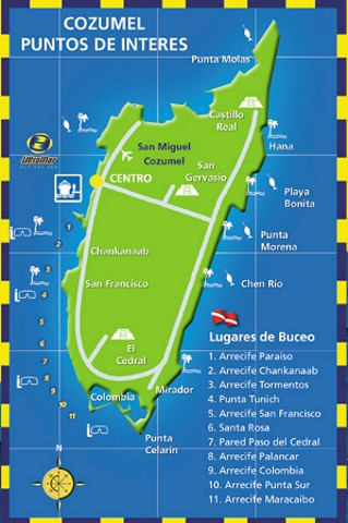 cozumel ferry terminal map