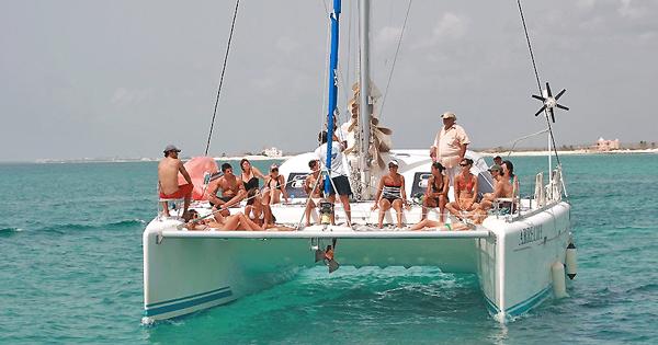 Catamaran Sailboat Rental in Playa del Carmen, Mexico