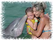 Kids Dolphin Swimming Cancun