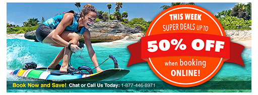 50% OFF when booking online